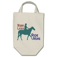 Worry Less Ride More Horseback Riding Horse Lovers from Zazzle.com
