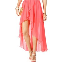 Neon Pink Hi Low Skirt