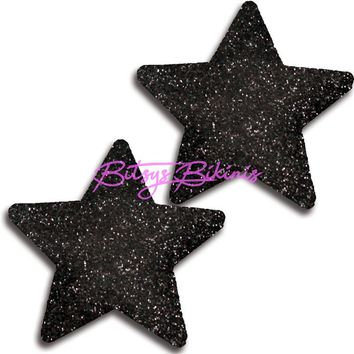Glitter Black Star Pasties