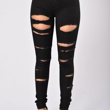 Slash and Burn Jeans - Black