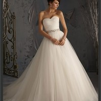 White Ball Sweetheart Beading Tulle 2013 Wedding Dress IWD0230 -Shop offer 2013 wedding dresses,prom dresses,party dresses for girls on sale. #Category#