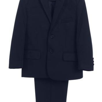 (Sale) Boys Size 7 Navy Two-Piece Suit w. 2-Button Jacket & Trousers