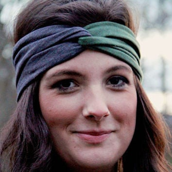 Urban Turban Olive and Charcoal Turband Twist Workout by Murabelle