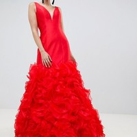 Jovani 3D Fishtail Maxi Dress at asos.com