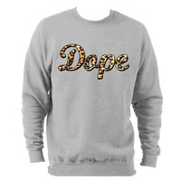 Dope Leopard Print trill sweatshirt. OFWG Hipster skate swag Jumper Sweater