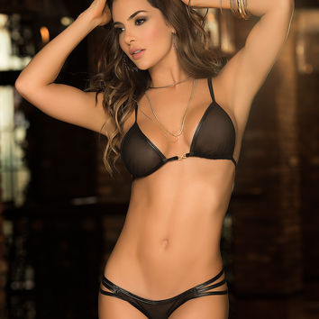 Black Bow Bra & Panty Set