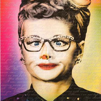 I Love Lucy Lucille Ball Funny Face Poster 24x36