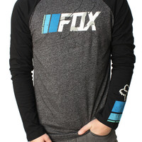 Fox Racing Men's Subtle Ways Slim Fit LS Raglan Graphic T-Shirt