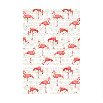Flamingo Bird Background Art Print