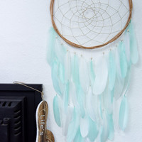 Mint Dreamcatcher - Large Mint Green Dream Catcher , Boho Decor, Boho Nursery Decor,  Mint Green Decor, Mint Green Nursery