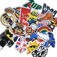 100PCS Different Styles PVC Waterproof Stickers Skateboard Snowboard Vintage Vinyl Stickers Graffiti Laptop Car Bike Bicycle Decals Guitar Decals Stickers