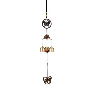 Outdoor Living Wind Chimes Yard Garden Tubes Bells Copper Butterfly Wall Hanging Home Decor Fast Shipping