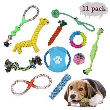 Pet Supplies : Pet Dog Toys Pet Rope Chew Toy Set Non-toxic and Harmless-11pcs,Vibrant Colors which are very healthy and safety for your pets( for Small Medium Dogs)