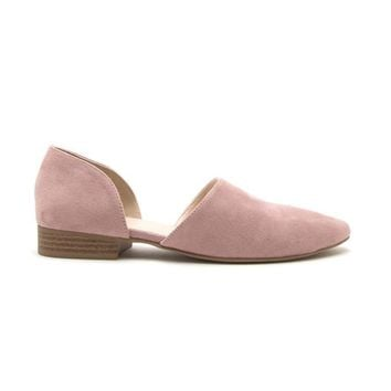 Flat Out Suede Slip On In Pink