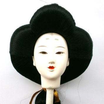 Japanese Doll Head Hina Matsuri Girl Queen Porcelain Doll Head (D4-6)