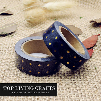 New Foil Washi Tape Japanese Stationery 1.5*10meter Kawaii Scrapbooking Tools Masking Tape Adhesiva Decorativa Colored
