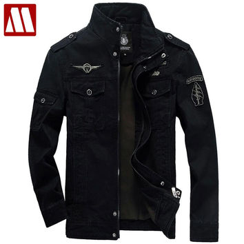 3colors Military jacket winter Cargo
