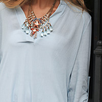 business casual tunic - sky