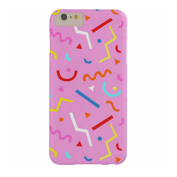 80s pattern phone case in bubblegum pink color - party iphone design - 1980s shapes - memphis pattern - hipster accessory for iphone, ipod..