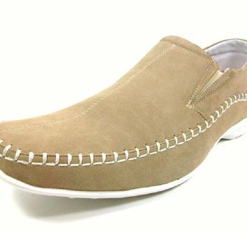Mens Delli Aldo Comfort Mocassin Casual Loafers Shoes 30109 Beige-120