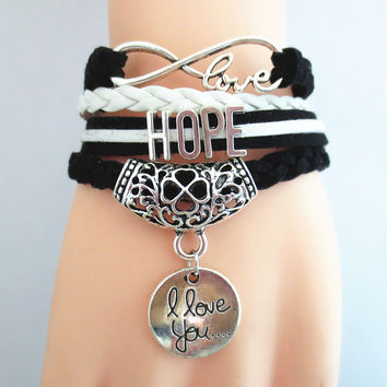 Charm bracelet women infinity friendship bracelets fashion wristband lady 15B8002