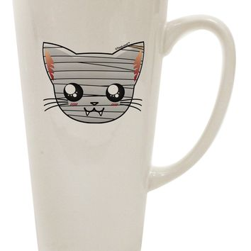 Mummy Kitty 16 Ounce Conical Latte Coffee Mug by TooLoud