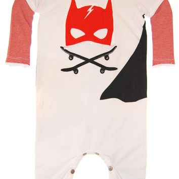 Caped Super Hero Twofer Baby Romper by: Mini Shatsu