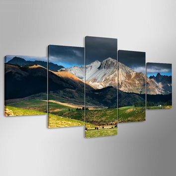 Wall Art Poster Modern Prints Decor Living Room Or Bedroom Canvas 5 Pieces New Zealand Landscape Painting Modular Pictures Frame