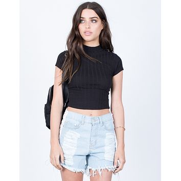 Easygoing Ribbed Crop Top