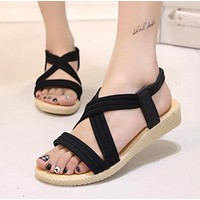 Summer Casual Beach Style  Sandals in Black