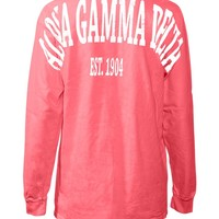 Alpha Gamma Delta Stadium Shirt - Tops - Shop by Sorority