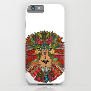 lion iPhone & iPod Case by Sharon Turner