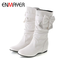Women's Spring and Autumn Bowtie Boots