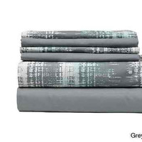 Grey Twin Fitted 6-piece Sheet Set Traditional Style College Dorm Bedroom