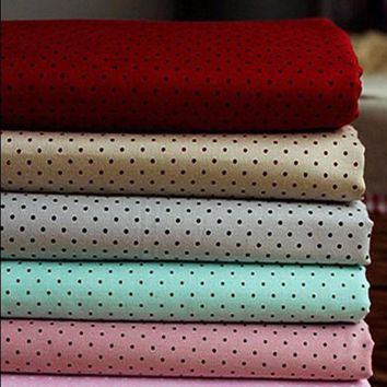 Pretty 5 Attractive Colors 50x160cm All Over Polkd Dot 100% Cotton Fabric for quilting bedding cloth DIY sewing
