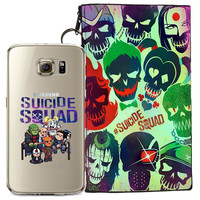 Suicide Squad Jelly Clear Case For Samsung Galaxy S7 + Pouch