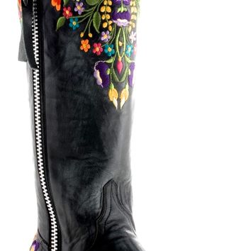 Old Gringo Black Sora Razz Boot