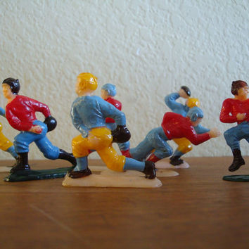 Vintage Retro Football Players Cake Toppers From The 1950s  Plastic Lot 7