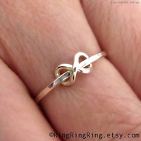 Promise ring - Adjustable Tiny infinity ring - 925 sterling silver ring jewelry, Girlfriend  090612