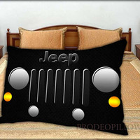 """Classic Only in a NightT Jeep Wrangler - 20 """" x 30 """" inch,Pillow Case and Pillow Cover."""