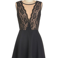 ModCloth Mid-length Sleeveless A-line In the Candlelight Dress