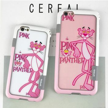 pink panther phone case for iphone 6/6s 6plus/6s plus ,7/8 7plus/8plus
