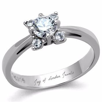 .75CT Round Cut Solitaire Russian Lab Diamond Engagement Ring