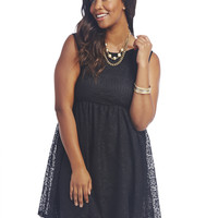 Crochet Keyhole Tank Dress | Wet Seal