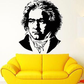 Wall Stickers Vinyl Decal Beethoven Classical Music Composer Famous Unique Gift (ig1771)