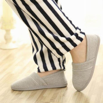 New 2017 Winter-Autumn At Home Thermal Cotton-Padded Slippers Women's Cotton Slippers Indoor Slippers With Soft Outsole Shoes