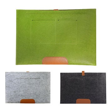 Wool felt Laptop Notebook Sleeve Case With PU Hasp for MacBook Air/Macbook Pro Siut For 11 13 15 Inches FW1S