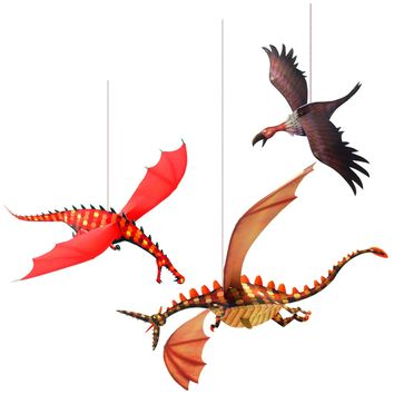 Djeco Hanging Paper Decor, Merciless Dragons