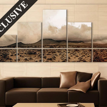 Extra Large Wall Art Nature Fine Art Canvas Wall Decor Modern Wall Hanging Fine Art Print on Canvas Volcano Wall Art Poster for Room Decor