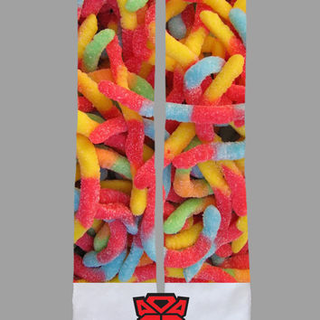 Gummy Worms - Custom Socks - Socktimus Prime